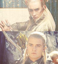 Thranduil and Legolas. The facial similarities are significant. Good job Peter Jackson!