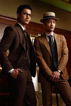 hommes élégants