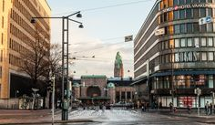 Post-house, Railway station, and Vaakuna Building in Helsinki, Finland by Vagabond Baker