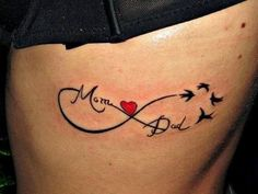 Mom Dad Memorial Infinity Tattoo