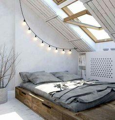 Bett im Podest eingelassen - top!