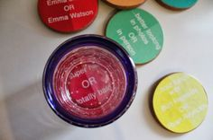 """""""Would You Rather"""" Conversation Coasters DIY"""