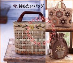 Japanese Craft Pattern Book Daily Patchwork Bag Purse b45a5c031e9b9