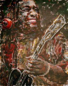 "Yury Ermolenko, ""James ""Blood"" Ulmer"", 2009, acrylic on canvas, 130x100 cm.  #Facevinyl #RapanStudio #painting #JamesBloodUlmer #jazz #blues #freejazz #harmolodics #freefunk #electricblues #guitarplayer #guitar #YuryErmolenko #еrmolenko #ЮрийЕрмоленко #ермоленко #yuryermolenko #юрийермоленко #юрiйєрмоленко #ЮрiйЄрмоленко #єрмоленко #rapanstudio #modernart #fineart #contemporaryart #современноеискусство #painting #art #texture #portrait #music #портрет #живопись #musician #музыкант #guitar…"
