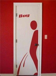 porta de banheiro masculino