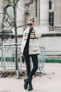 Love this Hudson Bay stripe jacket! Reminds me of my country high school - in a good way.