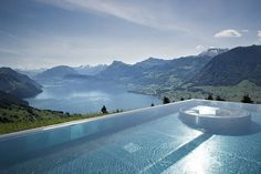Extraordinary Swimming Pools around the World  Here are some places in the world featuring swimming pools that will drive you crazy. At overflow height or length located in heavenly places in Switzerland and Indonesia golden or red-colored water in Lhasa or a stunning pool with views on the wildlife in Tanzania.  Above : Cambrian Adelboden Switzerland.  Marina Bay Singapore.  Belmond Jimbaran resort Indonesia.  Hanging Gardens Ubud Indonesia.  Gold Energy Pool St. Regis resort Lhasa…