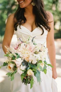 Photo by Loren Routhier on Southern Weddings #flowers #blooms #bouquet