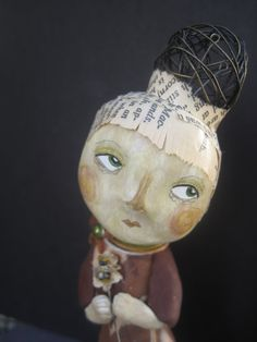 gorgeous! Shalako clay art doll by Aimie Campomanes - Love the wire hair.
