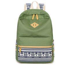 Women Backpacks For School Teenager Girls Printing Canvas School Bags Cute  Lightweight Backpacking 3 Pcs Set For Teen Girls 95299b7ba7444