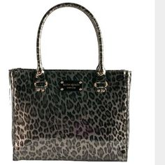 kate spade leopard Wellesley patent leather bag kate spade Wellesley leopard print patent leather bag. ( 9 inches x 12 inches x 4 inches with a 7 inch handle drop) Has a zip closure and two side compartments.   EUC kate spade Bags Shoulder Bags