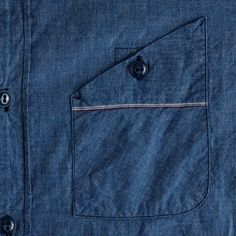 crew Mister Freedom® Utility Chambray Workshirt in Blue for Men (rustic blue) Indian Men Fashion, Mens Fashion, Fashion Outfits, Sewing Men, Mens Designer Shirts, Style Masculin, Boys Shirts, Denim Shirt, Fashion Details