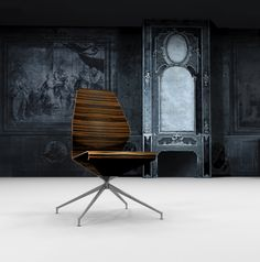 office chair by Bogoje Bojovic. Barcelona Chair, Lounge, Furniture, Design, Home Decor, Airport Lounge, Drawing Rooms, Decoration Home, Room Decor