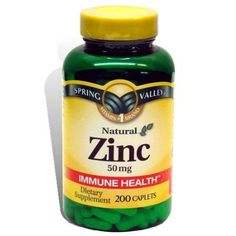 Spring Valley Zinc - zinc supplements are supposed to help clear up acne. I usually take zinc alongside the multivitamin, but be careful not to take too much! I always have to take them with food, otherwise they make me nauseous.