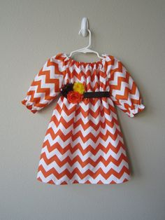 Hey, I found this really awesome Etsy listing at http://www.etsy.com/listing/161683764/34-sleeve-orange-chevron-dress-with