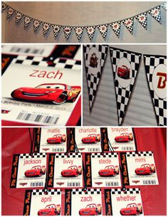 Cars Bingo, Pin the 95 on McQueen, Pit Passes, Birthday Banner, Invite, Thank You and more!  Disney Cars PRINTABLE Party Kit, Party Pack