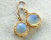 Yoola dangle earrings rose gold wire crochet