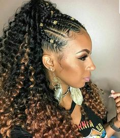 French Braids Ponytail for Black Women braided hairstyles, braids, african american hairstyles, black women hairstyles, # french Braids african american # Braids ponytail african american # ponytail Braids african american Box Braids Hairstyles, Braided Ponytail Hairstyles, Ponytail Styles, Braid Styles, Braided Ponytail Weave, African Braids Styles, Ponytail Ideas, Short Hairstyle, Short Hair Styles Easy