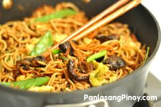 Vegetarian Pancit Canton might look like the regular Pancit Canton. However, this recipe is quite different because it does not use any meat; instead, I used Shitake mushroom.    Preparing this Pancit Canton Variation is simple and faster. A few minutes are what we need because there is no meat to tenderize. The taste that the shitake mushroom brin