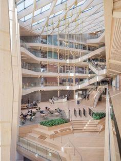 Concept Architecture, Interior Architecture, Commercial Architecture, Chinese Architecture, Futuristic Architecture, School Architecture, Biophilic Architecture, Atrium Design, Open Stairs