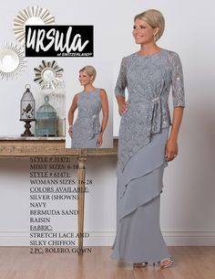 Ursula 61471 Plus Size Tiered Mother of the Bride Jacket Dress Mother Of The Bride Jackets, Mother Of The Bride Plus Size, Mother Of The Bride Dresses Long, Mothers Dresses, Long Mothers Dress, Vestidos Plus Size, Plus Size Dresses, Plus Size Outfits, Bride Gowns