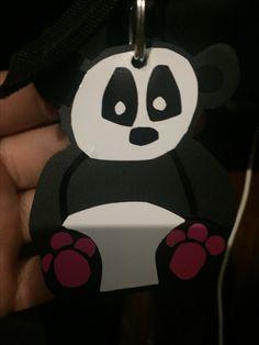 Cute panda key chain