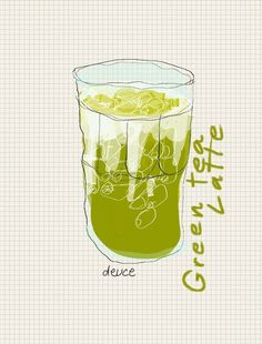 I love this one !!! Iced Green tea latte