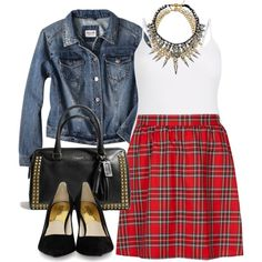 Tartan Skirt - Plus Size - just add black tights.