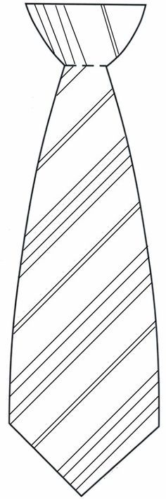 blank tie image to color for fathers day or lesson on priesthood or bishops