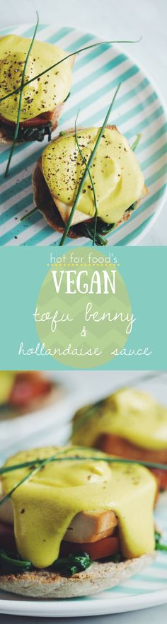 get your brunch on with this smoked tofu benny and a deliciously creamy vegan hollandaise sauce that's better than the real thing! Breakfast And Brunch, Tofu Breakfast, Vegan Foods, Vegan Dishes, Vegan Breakfast Recipes, Vegetarian Recipes, Vegan Hollandaise Sauce, Whole Food Recipes, Cooking Recipes