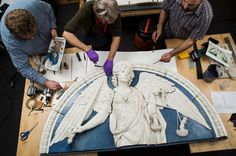 @metmuseum ~ After sustaining damage from a fall in 2008, the glazed terracotta sculpture of Saint Michael the Archangel by Andrea della Robbia (1435‒1525) is back on view. Conservator Wendy Walker meticulously reassembled the pieces and, together with Janis Mandrus, filled and in-painted the losses, with results that are only visible at close range. The @metobjectsconservation lab's investigation of the sculpture during treatment revealed the artist's finger and tool marks, shedding light…