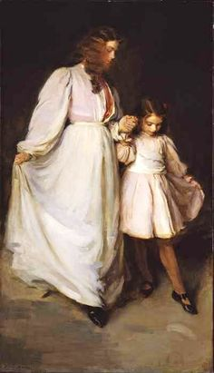 Cecilia Beaux (American painter, 1855-1942) Dorothea and Francesca
