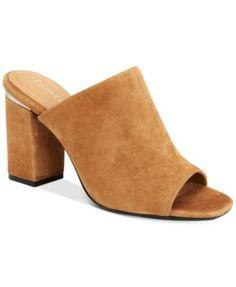3eb158edb605 Calvin Klein Women s Cicelle Peep-Toe Mules Shoes - Sandals   Flip Flops -  Macy s