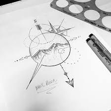 Image result for arrow compass tattoo