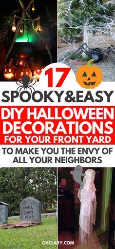 49 best Halloween Outdoor Decorations images on Pinterest in 2018