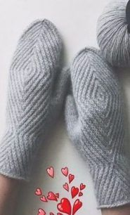 Ideas For Crochet Mittens Tricot Knitted Mittens Pattern, Crochet Mittens, Knitted Gloves, Diy Crochet, Knitting Socks, Hand Knitting, Knitting Patterns, Knitting Machine, Knitting Needles