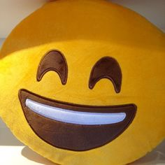 Smile !  our 25% off Daily Deals till Christmas continues  this emoji pillow is 25% off today online and in-store at Mindzai #dailydeal #emoji #pillow #smile #giftideas #art #toy #designertoys #happy #collectible #mindzai #markham #toronto