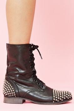 studded combat boots!!