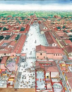 """""""Gaps in time"""": celebrating the Modena's birthday Ancient Rome, Ancient History, Roman City, Beauty In Art, Roman Empire, Old Town, Egypt, City Photo, Street Art"""