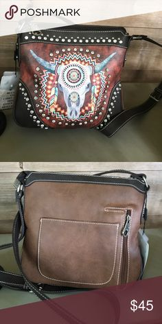 Concealed carry crossbody by Montana West! Very cute Montana West crossbody. Has secret place for a firearm. Brand new! Measures 10x9.5. Montana West Bags Crossbody Bags