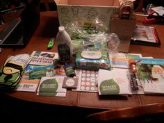 This is the great party box I received from Seventh Generation for my Healthy Baby Party!  It has free samples and free products for my guests!  Even a bingo game to play!  Lots of coupons! #seventhgeneration #healthybabyparty