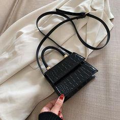 Mini Messenger Bag, Mini Crossbody Bag, Mini Purse, Crossbody Shoulder Bag, Tote Bag, Mini Handbags, Black Handbags, Leather Handbags, Crocodile