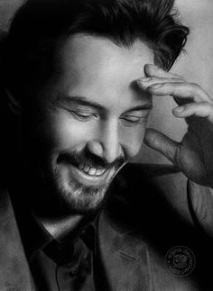 Hyperrealistic Keanue Reeves by eajna