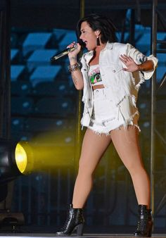 Demi Lovato Performing at the 2015 MLB All-Star Game in Cincinnati