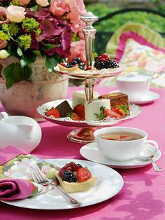 Afternoon tea.  Lets have a Tea Party