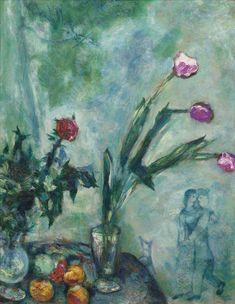 Les tulipes mauves (1928) - Marc Chagall
