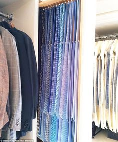 An ingenious storage solution for one man's extensive jacket and tie collection