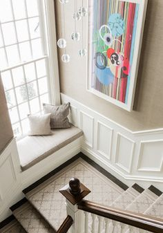Brookline Residence - transitional - Staircase - Boston - Terrat Elms Interior Design