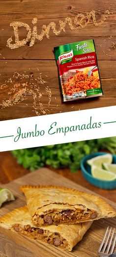 Let's put fun, filling, and festive back on the menu! These Jumbo Empanadas are a great way to spice up your weeknight dinner.