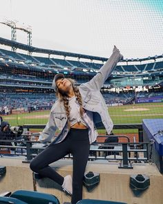 "Sierra Furtado Mets Baseball Game ""I stole his jacket and his baseball team⚾️ Go Mets.. I guess?"""